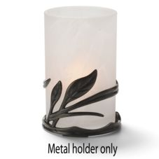 Hollowick Wrought Metal Leaf Ring Design Lamp Base