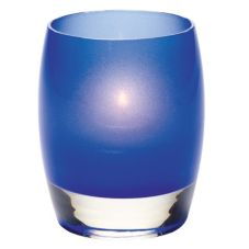 Hollowick® 6404SDB Satin Dark Blue Contour Glass Votive Lamp