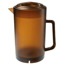 G.E.T.® P-3064-1-A 64 Oz. Amber Textured Pitcher With Lid
