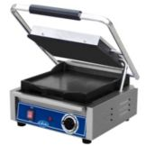 "Globe Food GSG10 Bistro 10"" Single Panini Grill w/ Smooth Plates"