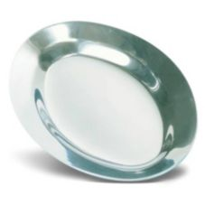 "J.B. Prince S340 11 Heavy-Duty Aluminum 11.5"" Sizzle Platter"