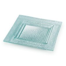 "Rosseto® GSP12 12"" Square Glass Platter - 3 / CS"