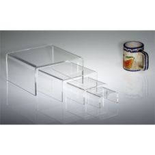 "Clear Solutions Clear 6"" x 6"" x 3"" Rectangular Riser"