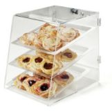Carlisle® SPD30307 Clear Three Tray Self-Serve Display Case