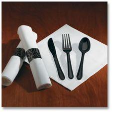 Hoffmaster® 119971 Linen-Like® Silver Swirl Cutlery - 100 / CS