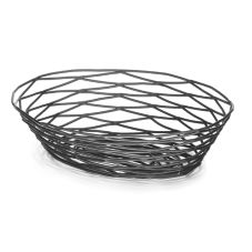 TableCraft BK17409 Artisan Collection™ Black Metal Oval Basket