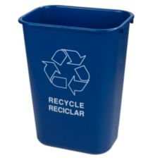 Carlisle® 342941REC14 41.25 Qt. Blue Recycle Wastebasket