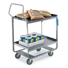 "Lakeside® 4721 S/S (2) 18"" x 27"" Shelf Utility Cart"
