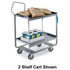"Lakeside® 4722 S/S (3) 18"" x 27"" Shelf Utility Cart"