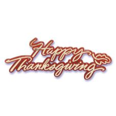 Bakery Crafts® T-11 Happy Thanksgiving Script - 36 / BX