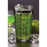 American Metalcraft MG578 16 Oz Mixing Glass with Recipes - 24 / CS