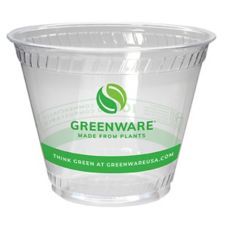 Fabri-Kal Greenware 9 Oz. Clear Plastic Compostable Cups