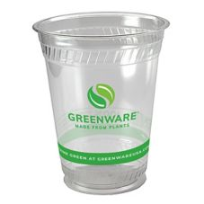 Fabri-Kal Greenware 16 Oz. Clear Plastic Compostable Cups