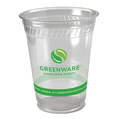 Fabri-Kal 9509206.05 Greenware 16 Oz Clear Compostable Cup - 1000 / CS