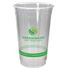 Fabri-Kal 9509209.04 Greenware 20 Oz Clear Compostable Cup - 1000 / CS