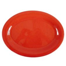 "Thunder Group CR212RD Red Oval 12"" x 9"" Platter - Dozen"
