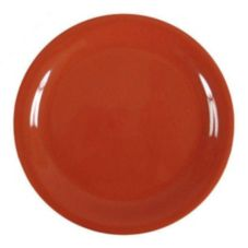 "Thunder Group CR106RD Red Narrow Rim 6-1/2"" Plate - Dozen"