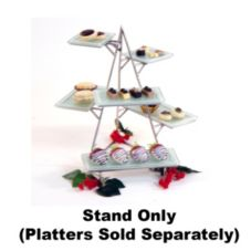 "Isinglass S/S 15""H Mini Multi-Level 3D Pyramid Stand"