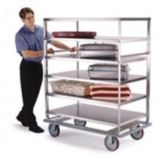 Lakeside® 581 S/S Tough Transport 1000 Lb. Cap 3 Shelf Banquet Cart