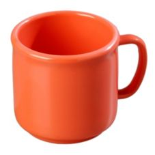 Carlisle® 4305252 Stackable 10 Oz. Sunset Orange Mug - 12 / CS