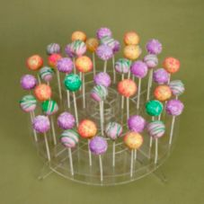 Crown Plastics CCD-7516 Low Profile 2 Tier Cake Pop Stand