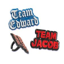 Bakery Crafts® TWI-2 Team Edward / Team Jacob Rings - 144 / BG