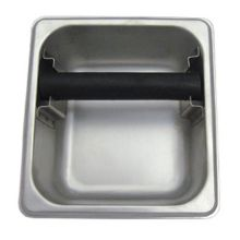"Update International KB-164 7"" x 6.5"" Stainless Knock Box"