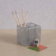 Design Ideas 3420419 Silver Mesh Pencil Cube