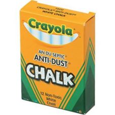 Crayola® C40501402 Anti-Dust White Chalk - 12 / BX