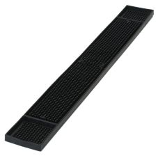 "Carlisle 3"" x 27"" Black Thermoplastic Bar Mat"