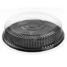 "Walco Organization 51840-C Round 18"" PET Tray With Lid - 25 / CS"