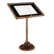 "Forbes Industries 49-1/2""H Hardwood Menu Stand"
