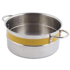 Bon Chef 62302NC YELLOW 4.3 Qt. Single Wall Pot with Handles