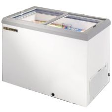 True® TFM-41FL 10 Cu. Ft. White Exterior Horizontal Freezer