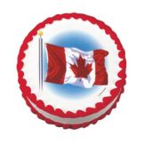 Lucks™ Edible Image® Wavy Canadian Flag