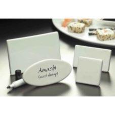 """American Metalcraft CMP520 Ceramic 5""""L x 2-3/8""""H Card Sign"""