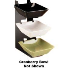 "Cal-Mil® 1707-10-64 Cranberry 10"" Square Melamine Bowl"
