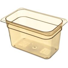 "Carlisle® 1048213 Top Notch Amber 1/4-Size 6"" Deep Food Pan"