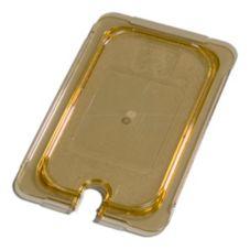 Carlisle® 10497U13 Top Notch® Amber 1/4-Size Flat Notched Lid