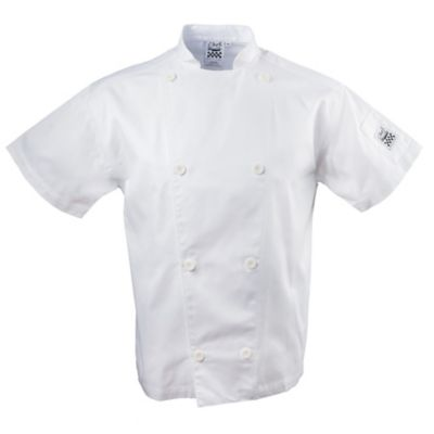 Chef Revival J005-L Knife & Steel White Large Short Sleeve Jacket
