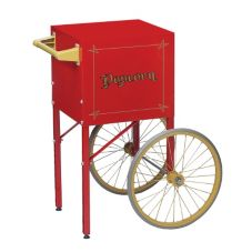 Gold Medal® 2649CR Red Popcorn Cart for Model 2404 Popper