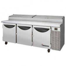 "Victory Refrigeration 88"" 3-Door S/S Pizza Prep Table"