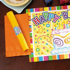 Hoffmaster Happy Birthday Combo Placemat