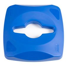 Rubbermaid® 1788374 Untouchable Single Stream Blue Recycling Top