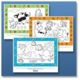 "Hoffmaster 120811 14"" x 17"" Toddler Placemat Kit - 90 / CS"