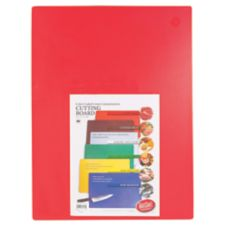 "TableCraft CB1520RA 15"" x 20"" Red Cutting Board"