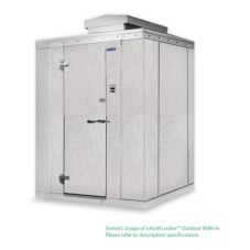 Nor-Lake KODF7746-CX 4' x 6' x 7' Outdoor Kold Locker Walk-In Freezer