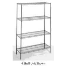Nor-Lake SSG46-3 Chrome Kote 3 Tier 4' x 6'  Walk-In Shelving Package