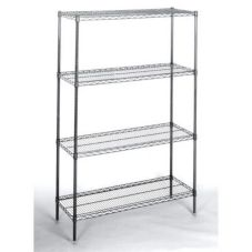 Nor-Lake SSG68-4 4 Tier 6' x 8' Chrome Kote Walk-In Shelving Package