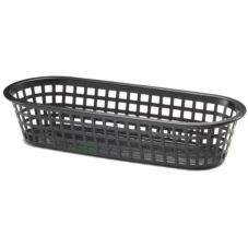 "Tablecraft Black 14"" Oblong Sub Basket"